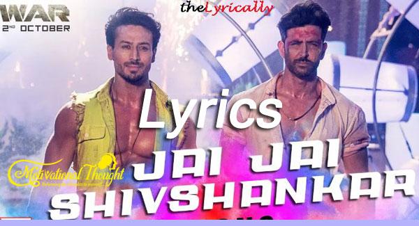 Jai Jai Shivshankar Lyrics – War   Hrithik - Tiger   Vishal Dadlani