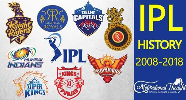 History of IPL 2008-2018