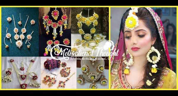 हल्दी के लिए फूल वाली ज्वेलरी   Flower Jewellery For Haldi & Mehndi
