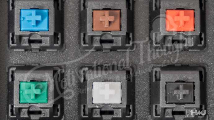 मैकेनिकल कीबोर्ड के प्रकार